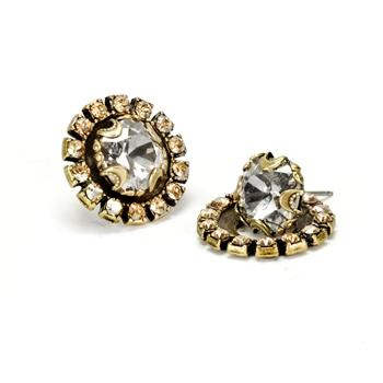 Crystal Halo Earrings E1256 - sweetromanceonlinejewelry