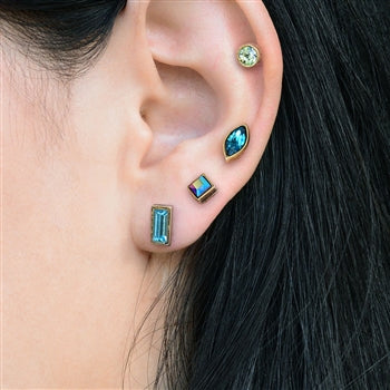 Set of 4 Crystal Stud Earrings E1259 - sweetromanceonlinejewelry
