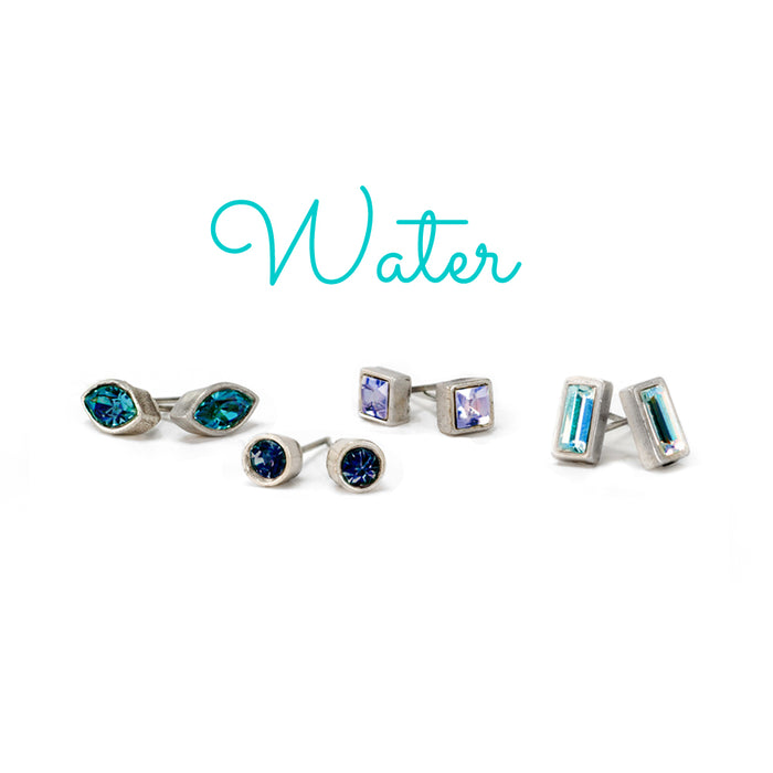 Set of 4 Crystal Stud Earrings E1259