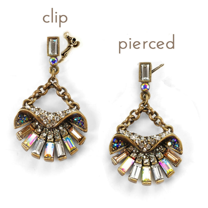 Art Deco Aurora Scallop Shell Ocean Earrings