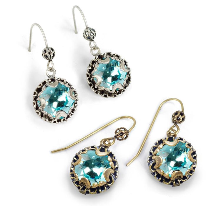 Crystal Dot Turquoise Earrings E1297