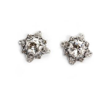 Cushion Cut Crystal Studs E1300