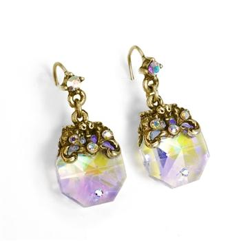 Crystal Prism Dainty Earrings E1303 - sweetromanceonlinejewelry