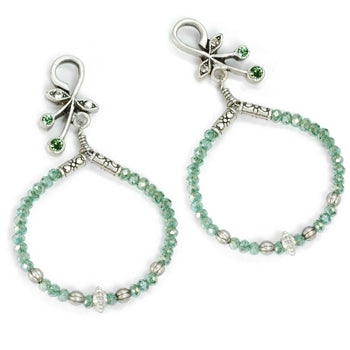 Harmony Hoops Beaded Earrings