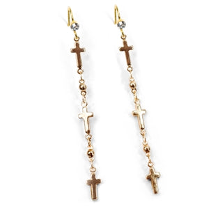 Keep the Faith Tiny Crosses Earrings E1321 - sweetromanceonlinejewelry