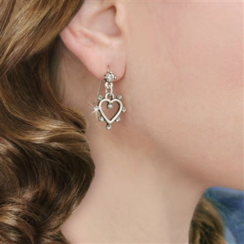 Crystal Outline Heart Earrings