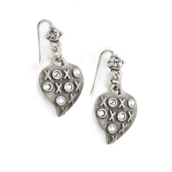 XO Heart Earrings E1326