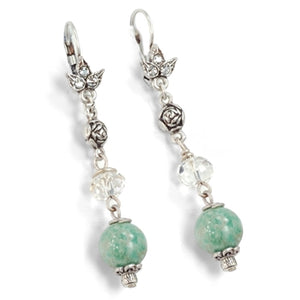 Aventurine Bead Earrings E1337