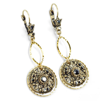 Window to the Soul Vintage Medallion Earrings E1338