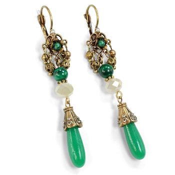 Vintage Jadeite Drop Earrings E1353