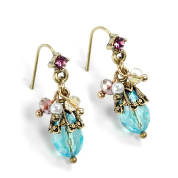Ocean Cluster Earrings E1355 - sweetromanceonlinejewelry
