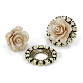 Shabby Rose Boho Chic Earring Set