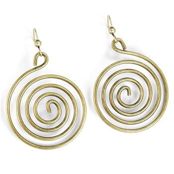 1970s Spiral of Love Earrings E1363