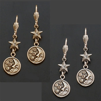 Moon & Stars Earrings E1398 - sweetromanceonlinejewelry