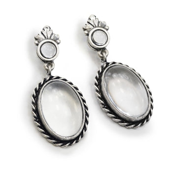 Pools of Light Crystal Orb Earrings E1419 - sweetromanceonlinejewelry