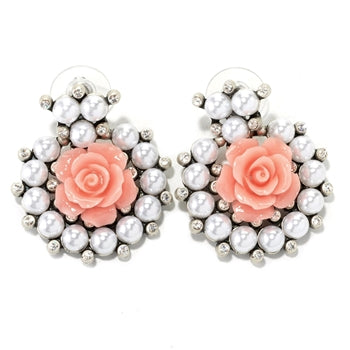 Rose Collar Earrings E1501 - sweetromanceonlinejewelry