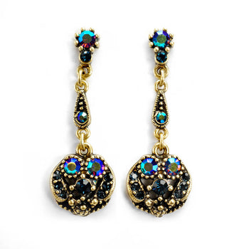Harlequin Peacock Earrings E151-PK