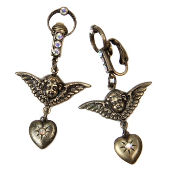 Cherub Doorknocker Clip-On Earrings E161-C - sweetromanceonlinejewelry