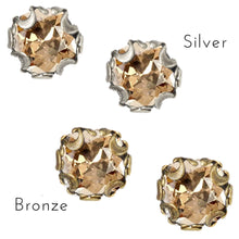 Load image into Gallery viewer, Birth Month Cushion Cut Stud Earrings E1982-BZ-GS