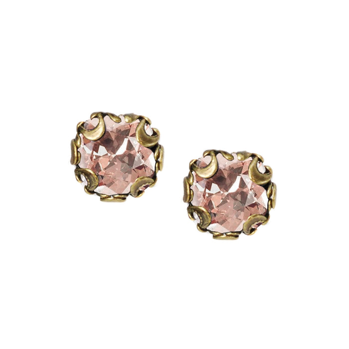Birth Month Cushion Cut Stud Earrings E1982-BZ-VR