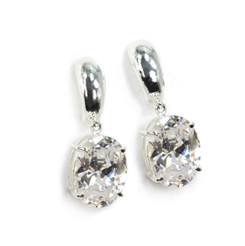 Oval Cubic Zirconia Earrings