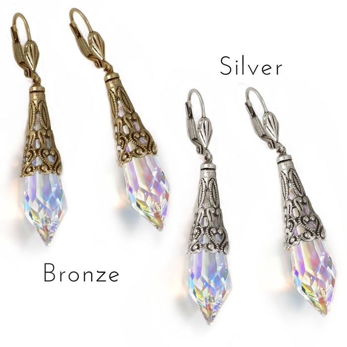 Crystal Prism Earrings E297 - sweetromanceonlinejewelry