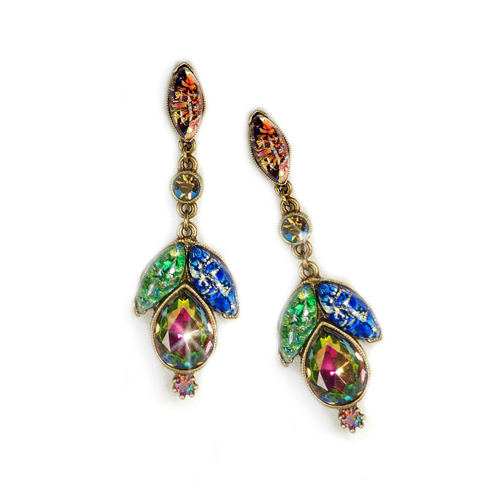 Vintage Opal Glass Earrings E3156