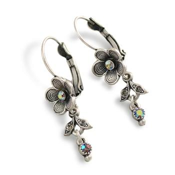 Desert Flower Dangle Earrings E347 - sweetromanceonlinejewelry