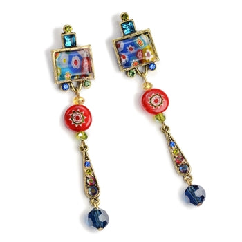 Tango Candy Glass Earrings E470 - sweetromanceonlinejewelry