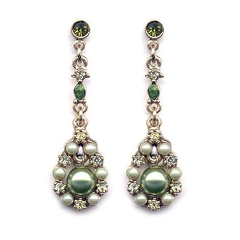 Round Pearl Drop Earrings E572-OL