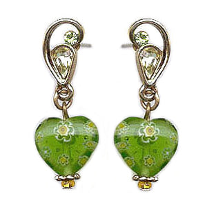 Millefiori Glass Candy Earring E583 - sweetromanceonlinejewelry