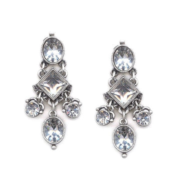 Gothic Crystal Drop Earrings