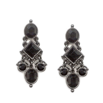 Gothic Crystal Drop Earrings - sweetromanceonlinejewelry