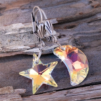 Starlight Moonlight Earrings E774 - sweetromanceonlinejewelry