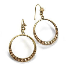 Load image into Gallery viewer, Halo Hoop Earrings - sweetromanceonlinejewelry