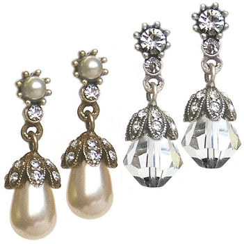 Pearl or Crystal Wedding Earrings
