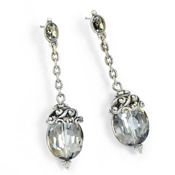 Oval Crystal Earrings - LAST ONE!!