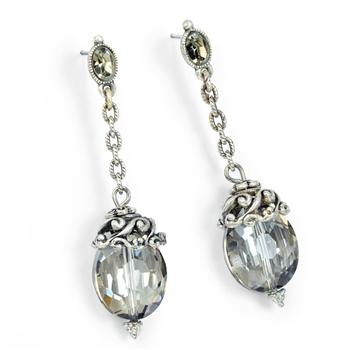 Oval Crystal Earrings - LAST ONE!! - sweetromanceonlinejewelry