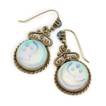 Iridescent Moon Earrings E918 - sweetromanceonlinejewelry