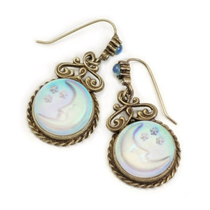 Iridescent Moon Earrings E918
