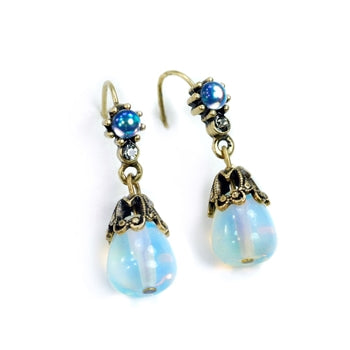 Iridescent Opaline Demi Earrings E926