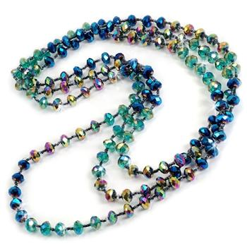 Iridescent Glass Beads Necklace - sweetromanceonlinejewelry