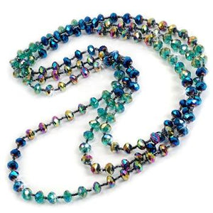 Iridescent Glass Beads Necklace