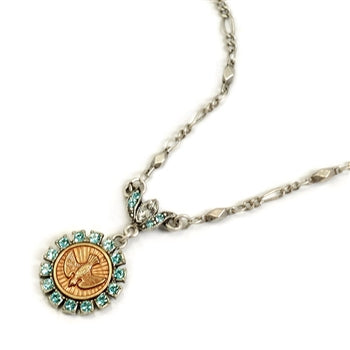 Bird Spirit Coin Necklace N1064 - sweetromanceonlinejewelry