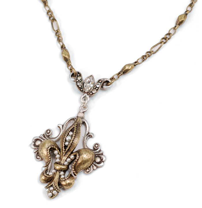 French Ritz Fleur De Lis Necklace N1068
