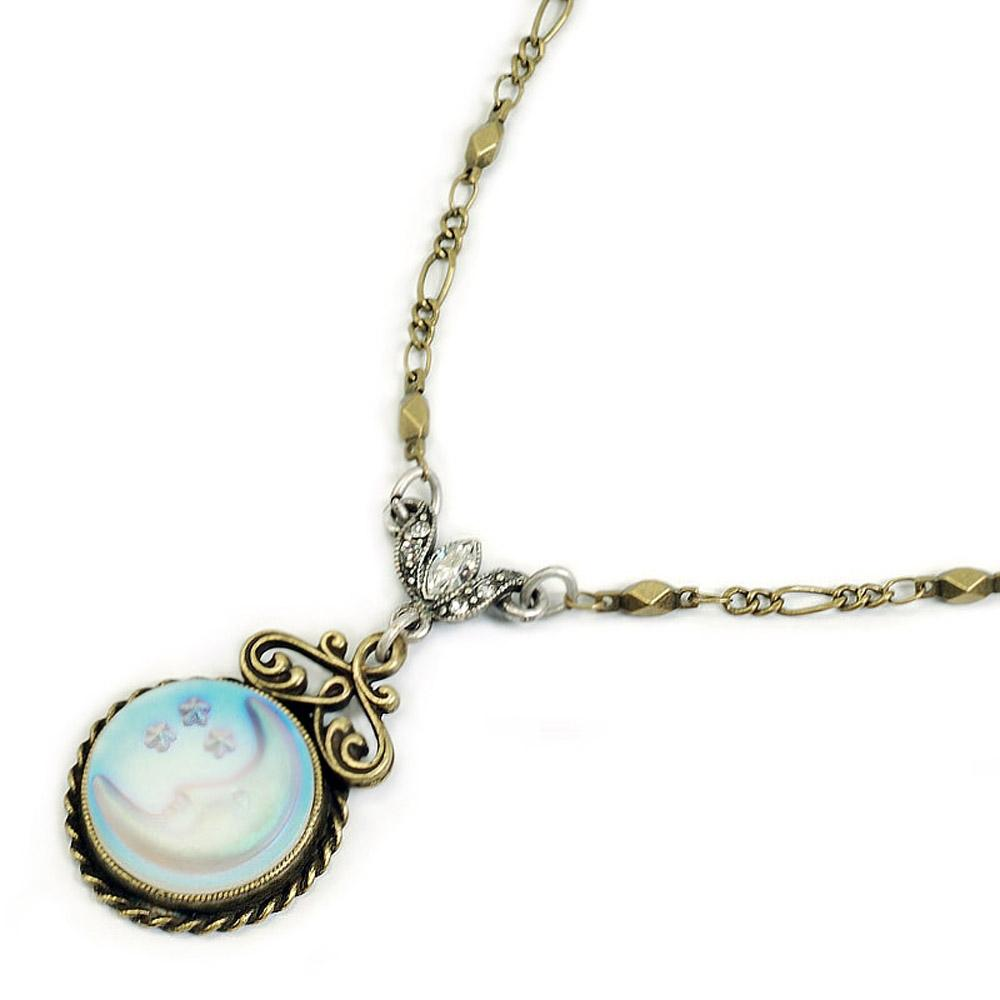 Over the Moon Necklace N1071 - sweetromanceonlinejewelry