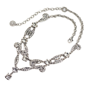 Art Deco Vintage Hollywood Crystal Necklace N1102 - sweetromanceonlinejewelry