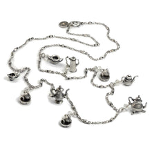 Load image into Gallery viewer, Tea Time Teapot Long Necklace N111