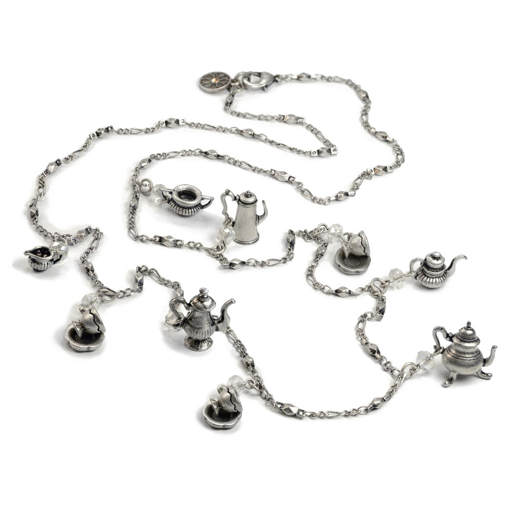 Tea Time Teapot Long Necklace N111