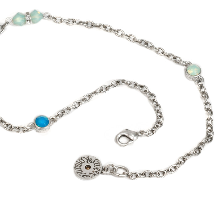 Crystal Sparkle Chain Necklace N1153 - sweetromanceonlinejewelry